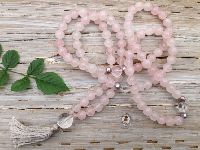 Open Heart Mala (Silver and Sage Jewelry)